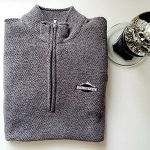 Gear for Sports Mens Grey Zip Pullover Sweater EUC